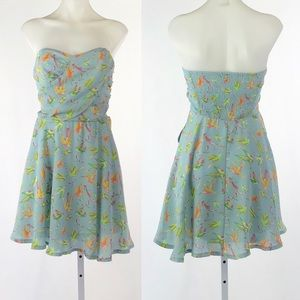 Lovposh strapless hummingbird dress